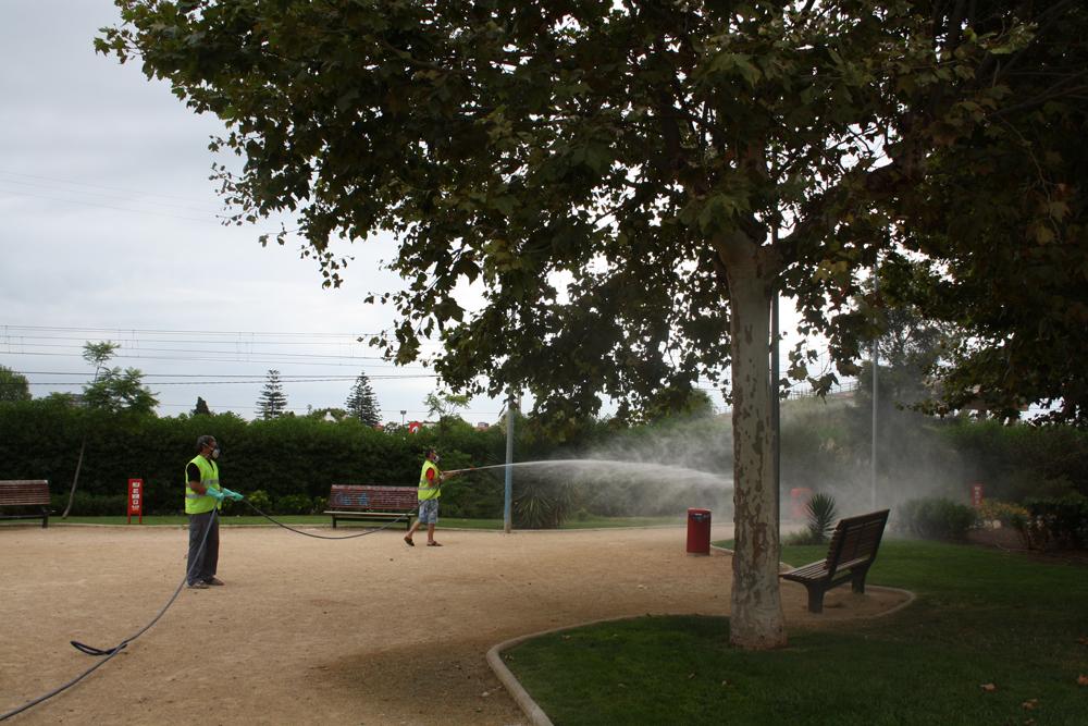Alfafar desinsecta y desratiza sus parques