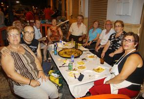 el concurso de paellas que organizan los clavarios del Cristo dentro de las Fiestas de Mislata