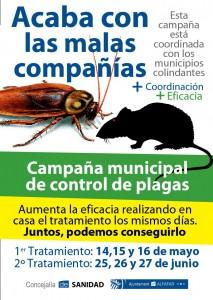 cartel control de plagas alfafar