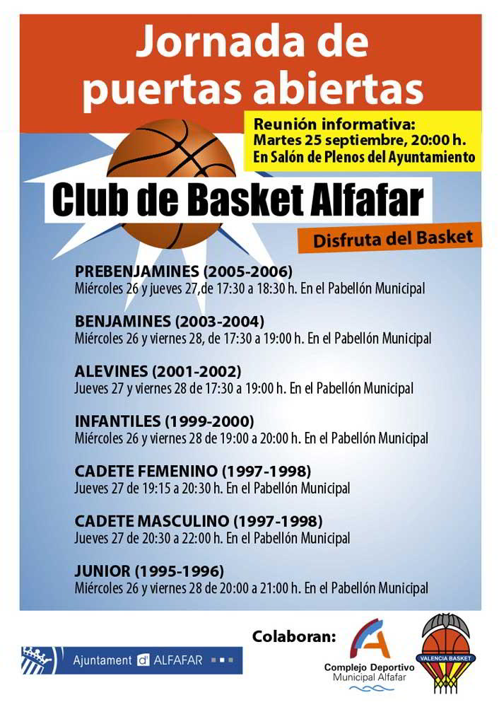 jornada puertas abiertas basket alfafar 2012