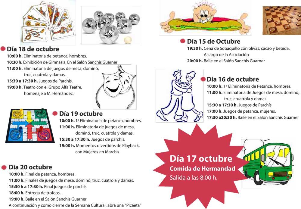 Alfafar – Semana cultural jubilados Orba 2012 - Actos