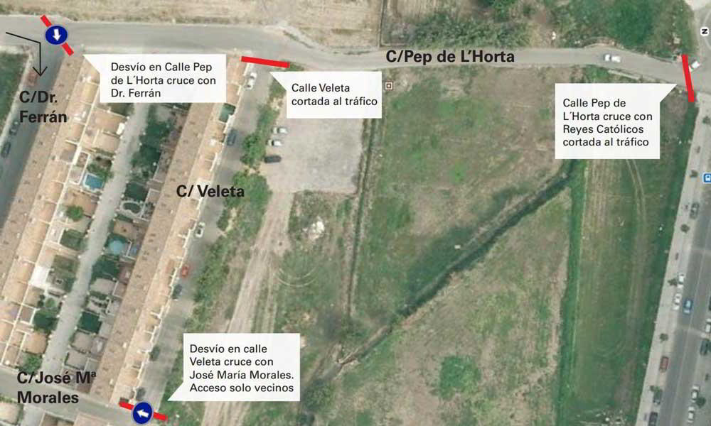 repavimentación y ampliación de la C/Pep de L'Horta de Alfafar