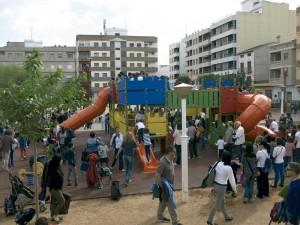 zona lúdica infantil del parque Central de almussafes
