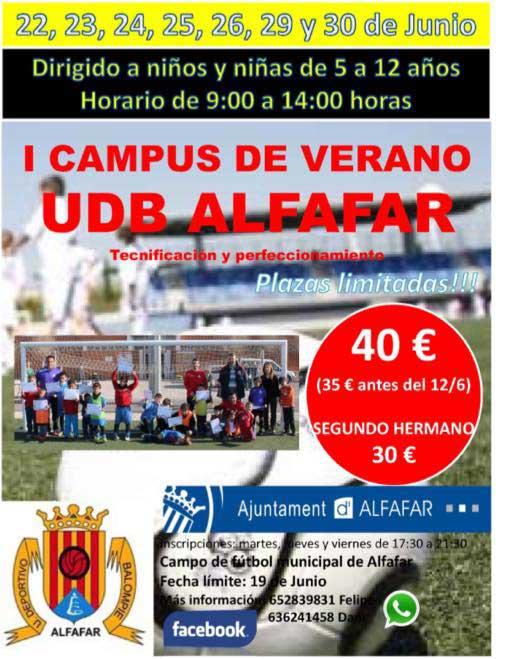 I Campus de Verano de la UDB Alfafar.
