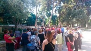 Vecinos de Alfafar visitaron los Jardines del Real