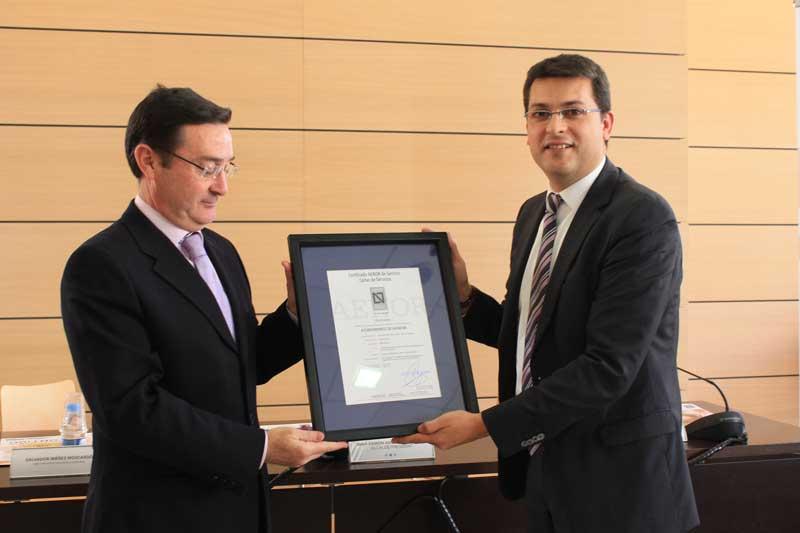 AENOR vuelve a certificar al Ayuntamiento de Alfafar