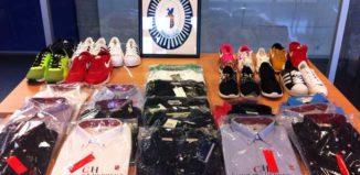 productos falsificados en Port Saplaya