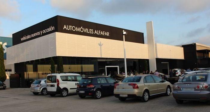 Automoviles Alfafar exposicion vehiculos de ocasion en Valencia